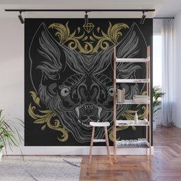 Ornamental Bat Head Wall Mural