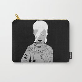 David Bowie Grey by emilythepemily Carry-All Pouch