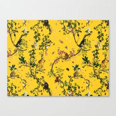 Monkey World Yellow Canvas Print