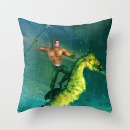 King of the Sea Superfriend Throw Pillow
