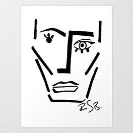 Faire Visage No 71 Art Print