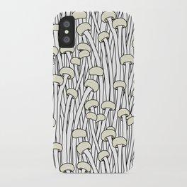 Enokitake Mushrooms (pattern) iPhone Case