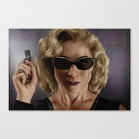 river song Canvas Prints featuring River Song (Doctor Who) by San Fernandez