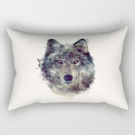 Wolf // Persevere  Rectangular Pillow