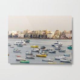 Sailing to the sea: Harbor Metal Print