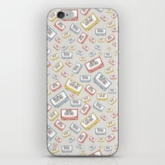 Primary Mixtapes on Neutral Grey iPhone & iPod Skin