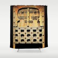 door Shower Curtains featuring Door by Saundra Myles