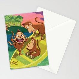 Monkeys on a Boat Stationery Cards