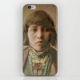 Young Native American Girl 1904 iPhone Skin