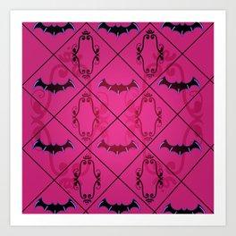 Goth Bat pattern Art Print