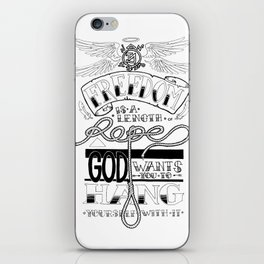 Freedom quote iPhone Skin