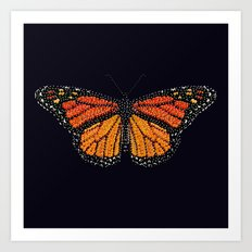 Monarch Butterfly Bedazzled Art Print