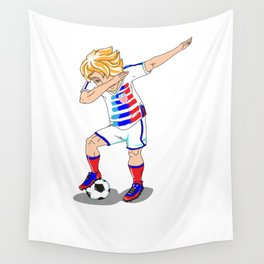USA Soccer Player Dab Wall Tapestry