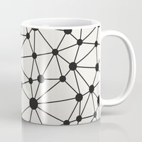 grid Mugs featuring Grid by GeoDesigned