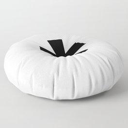 Asterisk (Black & White) Floor Pillow
