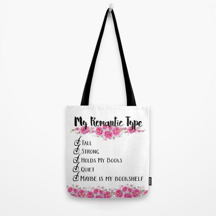 Bookshelf Romance Tote Bag