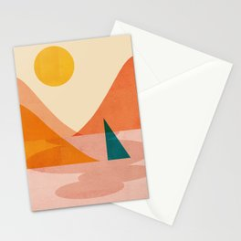 Abstraction_Lake_Sunset Stationery Cards
