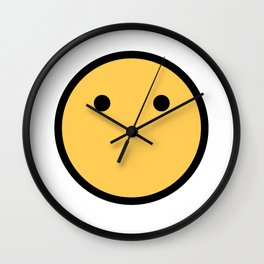 Smiley Face   No Mouth Only Eyes Wall Clock