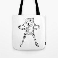 finn Tote Bags featuring Finn  by 8BOMB