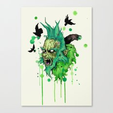 You're A Mean One Canvas Print