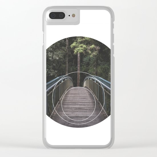 Circular Bridge - Geometric Photography Clear iPhone Case