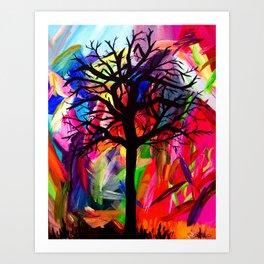 Vibrant Darkness Art Print