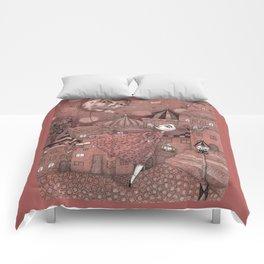 Strawberry Moon in June Comforters