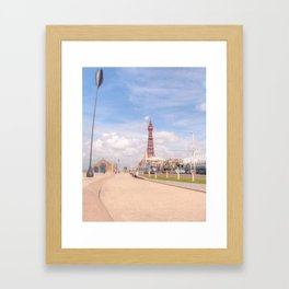 Blackpool Tower and Oar Framed Art Print