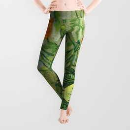 "Vincent Van Gogh ""Butterflies and Poppies"" Leggings"