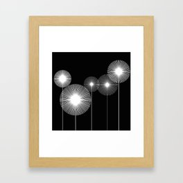lines_and_dots Framed Art Print