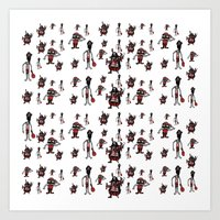 pirates Art Prints featuring Pirates by Joe Pugilist Design