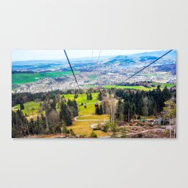 Traveling Up the Mountain Canvas Print
