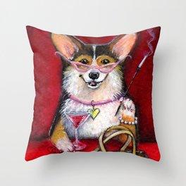 Cosmopolitan Corgi Throw Pillow