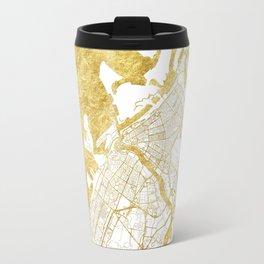 Dubai Map Gold Travel Mug