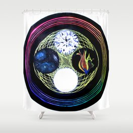 Space and Light Shower Curtain