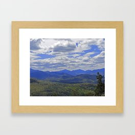 The Adirondack High Peaks Framed Art Print