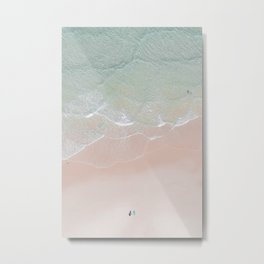 Surf yoga Metal Print
