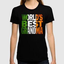 Irish Grandma Gift Irish Flag Shirt T-shirt