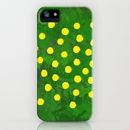 Flower Dandelion (rectangular) iPhone Case
