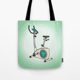 Exercise bike Tote Bag