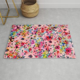 Little Peachy Poppies Rug