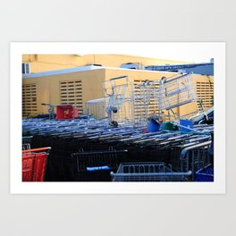 Grocery carts Art Print