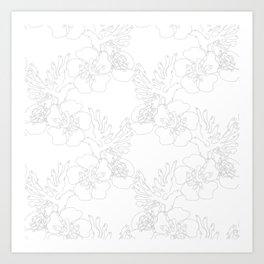 Sakura Doves Art Print