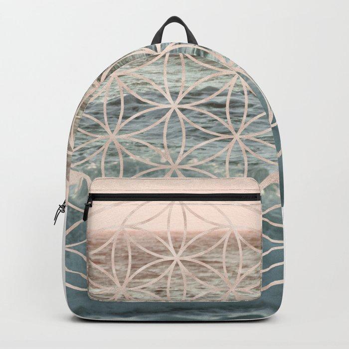 Mandala Flower of Life Sea Backpack