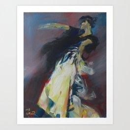 Flamenco Stance Art Print