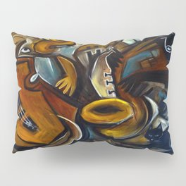 Black Cat Jazz Pillow Sham