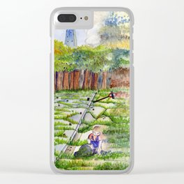 Slipping Away: Even Giants Fall Clear iPhone Case