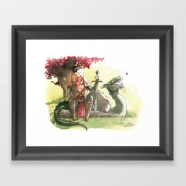 Warrior's rest Framed Art Print
