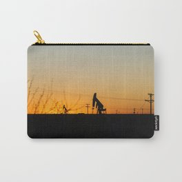 Oil Rig At Sunset Carry-All Pouch