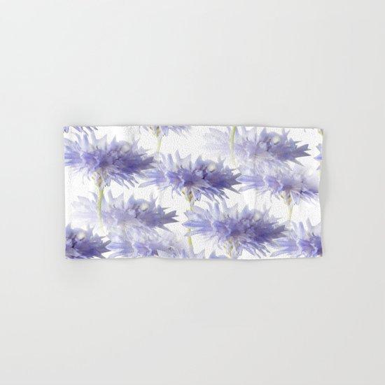 Pale Blue Cornflowers Hand & Bath Towel